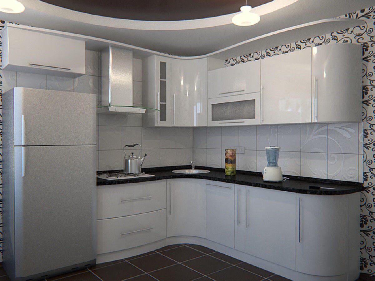 Белые угловые кухни фото