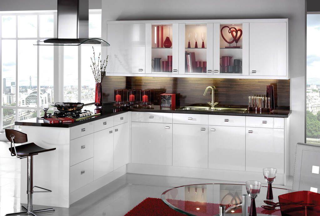 Дизайн кухни черно-белым