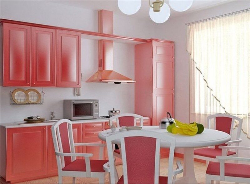 Сочетание двух цветов на кухне фото