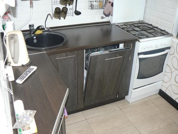 Дизайн кухни 7 квм с посудомоечной машиной