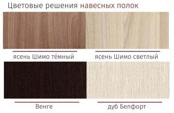 Цветовые решения навесных полок ПЛ 1