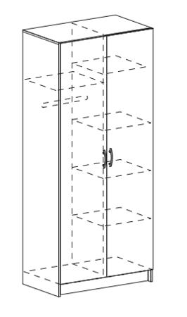 шкаф ШК-556 внутри