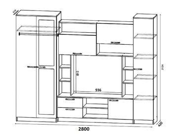 Схема гостиной Андрей 1