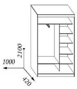 Шкаф купе эконом схема