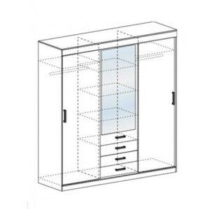 Шкаф купе модель «А-3» схема