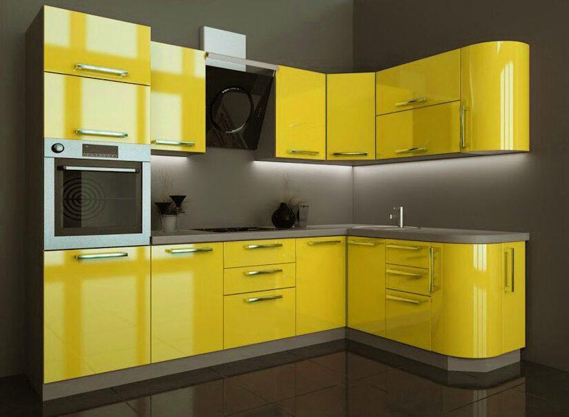 этой подборке лучшие фото желтых кухонь эти