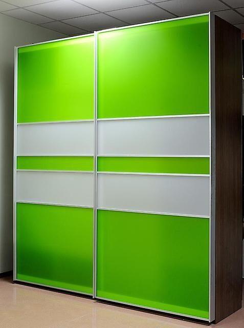 Салатовые шкафы-купе фото