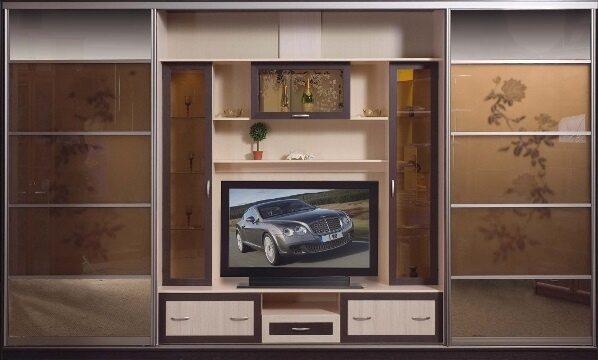 Шкаф купе с телевизором фото.
