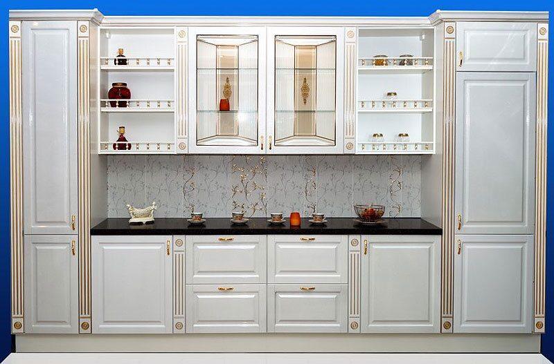 Фото кухни эмаль классика