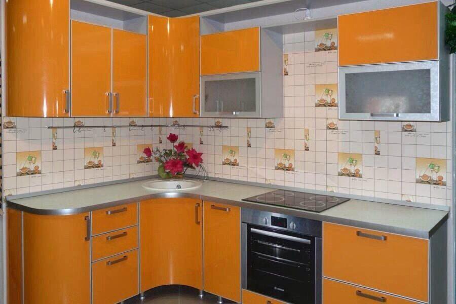 Схема радиусной кухни
