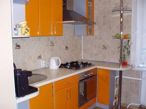 Дизайн кухни 5 или 6 кв м: 50 фото маленькой кухни после ...
