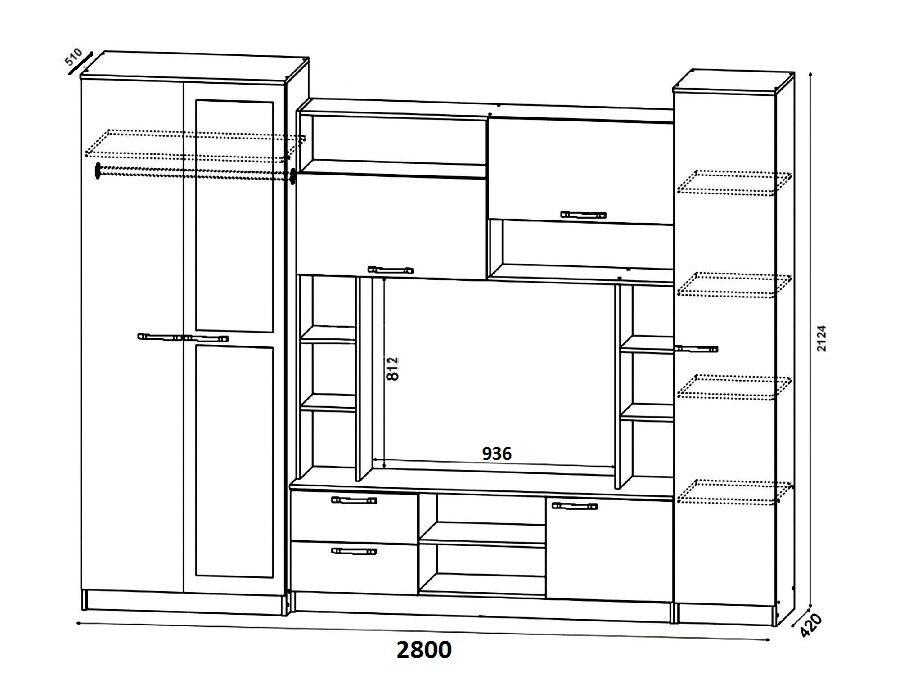 Схема сборки гостиная палермо