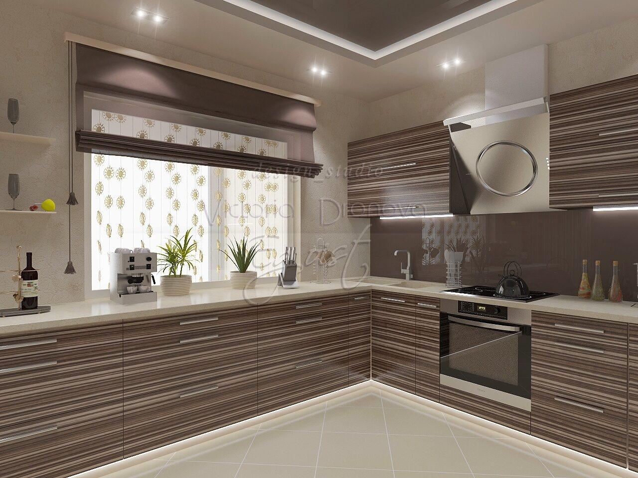 Фото кухонь с черной вытяжкой бы